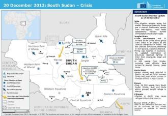 South Sudan map December