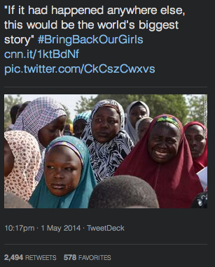 CNN in Nigeria bringing back our girls and the law of unimagined consequences